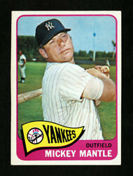 1965 Topps 350 Mickey Mantle Excellent Plus Centered Factory Oversized
