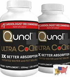 Qunol Ultra Coq10 100mg 3x Better Absorption Patented Water And Fat Soluble Na
