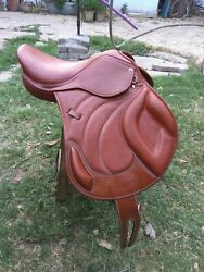 New Jump Close Contact 100 Genuine Leather Saddle Available Size 16 17 18
