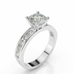 1.70 Ct D/si1 Womenand039s Round Cut Diamond Engagement Ring 14k White Gold