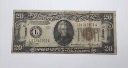 1934 A 20 Federal Reserve Note - Hawaii Emergency Kl2524 L61247591a