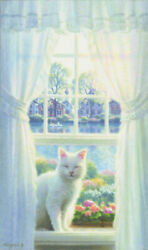 Sasakura Teppei Window With White Cat Smile2020 Released In Mid-august Canvas