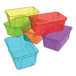 Cubby Bins Lids Sold Separately 12.2 X 7.8 X 5.1 Assorted Candy Colors