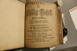1763 Rare German Bible Printed By Christopher Saur Original And Complete