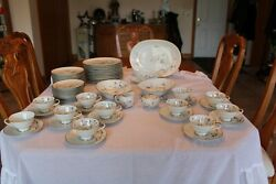 H And C Selb Heinrich Eandr Hand Painted Golden Harvest 60 Piece Grouping Dinnerware