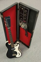 Vintage 1960and039s Sears Silvertone 1448 Black Electric Guitar Amp In Case Read Desc