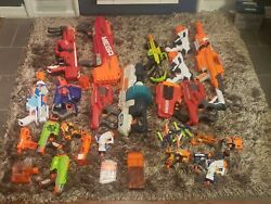Lot Of 20 Nerf Guns Pistols Rifles Sub Mega. Included Clips See Photos