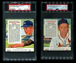 Red Man Tobacco 1955 Red Man Baseball Partial Complete Set 4.5 - Vg/ex+