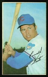 1970 Topps Super 21 Ron Santo Factory Cut Square Corners Not A Blank Back Proof