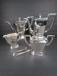 Sterling Silver 950 Tea Set 5 Pc Whis Case
