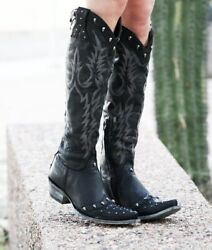 L2959-1 Relaxed Fit Old Gringo Mayra Vesuvio Black Skull Tall 18 Womens Boots