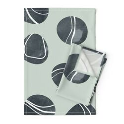 Pebble Stone Rock Nature River Linen Cotton Tea Towels By Roostery Set Of 2
