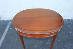 Lovely Antique French Louis Xv Solid Walnut Center Side End Oval Table 19th C.