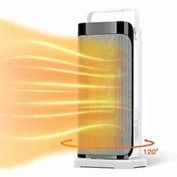 Space Heater For Office - Portable Electric Ceramic Quiet Tower Heater Fan Wi...