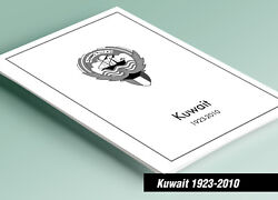 Printed Kuwait 1923-2010 Stamp Album Pages 189 Pages