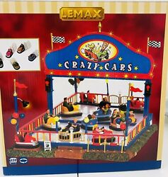 Lemax Crazy Cars Carnival Ride 2006 Animated Lighted  64488