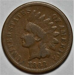 1868 Indian Head Cent Us 1c Penny Coin Flat Rate Shipping Lot 218