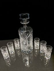 Faberge Crystal Monte Carlo Decanter With Glasses Nib
