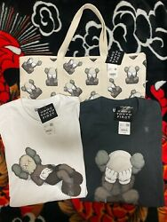Kaws Tokyo First Ut Uniqlo Japan Shirts Sizes S-xxl And Tote Bags
