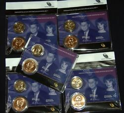 Five 5 Sets Of 2015 Presidential 1 Coin And First Spouse Medal Set.