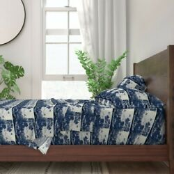 Delft Blue Tile 100 Cotton Sateen Sheet Set By Roostery