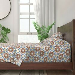 Vacation Stars Mosque Tile Morocco 100 Cotton Sateen Sheet Set By Roostery