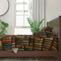 Bookcase Photographic Victorian Old 100 Cotton Sateen Sheet Set By Roostery