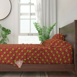 Square Medallions Tile Work Brocade 100 Cotton Sateen Sheet Set By Roostery