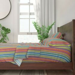 Stripe Beach Tile Spring Mosaic 100 Cotton Sateen Sheet Set By Roostery