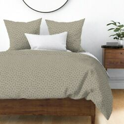 Petoskey Neutral Natural Nature Stone Rock Sateen Duvet Cover By Roostery