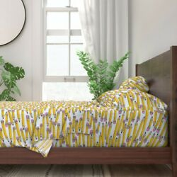 Pencils Student Teacher Back To School 100 Cotton Sateen Sheet Set By Roostery