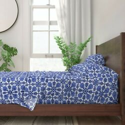 Persian Floral Tile Modern Decor 100 Cotton Sateen Sheet Set By Roostery