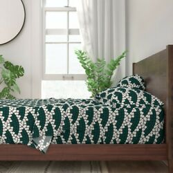 Mosaic Geometric Tile Wave Scallop 100 Cotton Sateen Sheet Set By Roostery