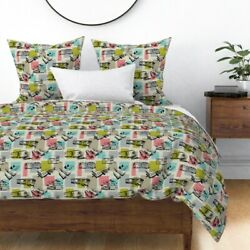Vintage Trailers Airstream Trailer Mobile Home Sateen Duvet Cover By Roostery