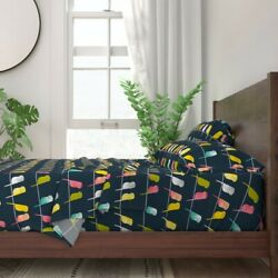Budgerigars Budgerigar Budgie 100 Cotton Sateen Sheet Set By Roostery