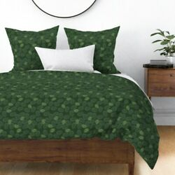 Pinecone Forest Woods Evergreen Tree Pine Sateen Duvet Cover By Roostery
