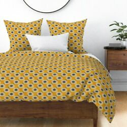 Pencils Teacher Student School Classroom Yellow Sateen Duvet Cover By Roostery