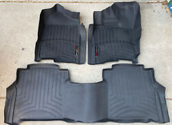 Weathertech Floorliner Mats For 2016-21 Nissan Titan / Xd Crew Cab 1st And 2nd Row