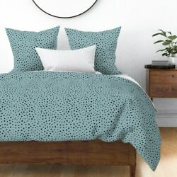 Dalmatian Speckles Dots Skin Animals Cats Sateen Duvet Cover By Roostery