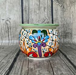 Small/mini Hand-painted Mexican Ceramic Self-watering African Violet Pot