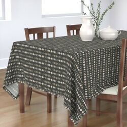 Tablecloth Moon Phases Geometric Home Moons Celestial Luna Eclipse Cotton Sateen