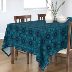 Tablecloth Moroccan Tile Mexican Tile Tiles Spanish Tile Teal And Cotton Sateen