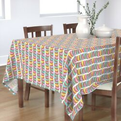 Tablecloth Pastel Colors Shells Mexican Food Pan Dulce Bread Lined Cotton Sateen