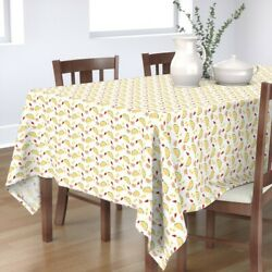Tablecloth Taco Party Mex Hipster Food Mexican Salsa Fiesta Cinco Cotton Sateen