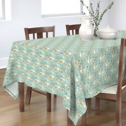 Tablecloth Tractor Country Farm Farmer Baby Boy Tractors Equipment Cotton Sateen