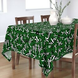 Tablecloth Mexican Otomi Striped Animals Black And White Forest Cotton Sateen