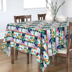 Tablecloth Aztec Dragon Mexican Feathered Serpent Gods Cosmic Cotton Sateen
