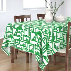 Tablecloth Ants Insects Bugs Farms Tractors Barns Maze Cotton Sateen