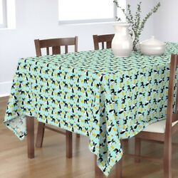 Tablecloth Boston Terriers + Mexican Food Tacos Kids Burritos Dog Cotton Sateen