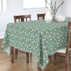 Tablecloth Brittany Spaniel Florals Floral Dog Dogs Sporting Gun Cotton Sateen